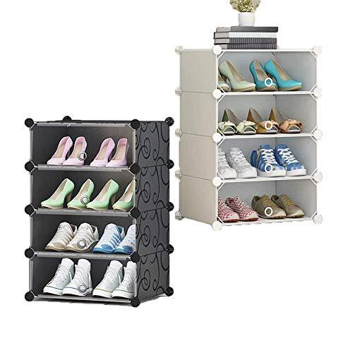 Decoración de muebles Cabina de zapatos plegable Caja de zapatería DIY DIY Simple zapato gabinete transparente combinación plegable multifunción PP Resina Gabinete de almacenamiento para zapatos Botas