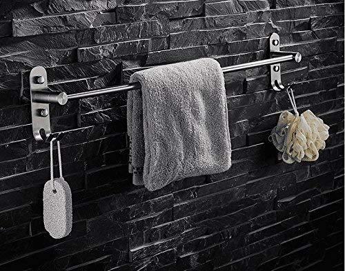 Wandhouder handdoekstang 304 roestvrij staal badkamer enkele stang met haak zonder gaatjes wandhouder