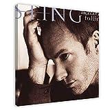 Sting(Gordon Sumner) Cubierta del álbum – Mercury Falling Canvas Póster Decoración del dormitorio, Paisaje Deportivo Oficina Decoración de Habitación Regalo 40 x 40 cm