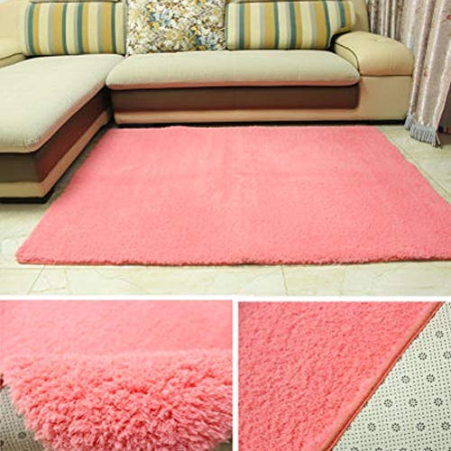 Lfixhssf eenvoudige moderne rechthoekige lam woonkamer salontafel slaapkamer tapijt Lfixhssf 140x200cm roze