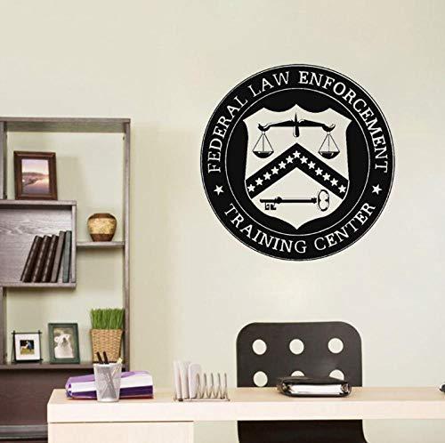 Muurstickers Decals Law Office Teken Advocaat Advocaat Vinyl Decal Bedrijf Naam Schaal van Justitie Raam Decoratie 42X42 cm
