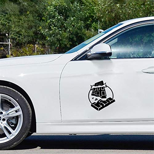 Auto Tank Sticker 14.4Cmx16.2Cm Chocolade Mode Auto Styling Motorfiets Stickers Stickers voor auto Laptop Window Sticker