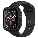 【Spigen】 Apple Watch 44mm ケース 【 Series SE/Series 6 / Series 5 / Series 4 対応 】 落下 衝撃 吸収 タフネスデザイン ラギッド・アーマー 062CS24469 (ブラック)
