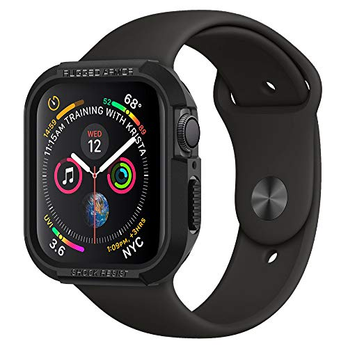 Spigen Rugged Armor Funda Compatible con Apple Watch Case para 44 mm Serie 5 / Serie 4 - Negro