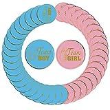 N/ A 120 pegatinas de revelación de género para equipo y niña de equipo de baby shower, etiquetas para juegos de votación y suministros de fiesta