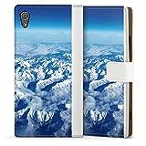 DeinDesign Étui Compatible avec Sony Xperia XA1 Étui Folio Étui magnétique Nuage Neige Montagne