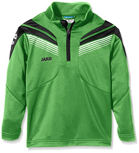 JAKO Kinder Trainingsziptop Pro, Soft Green/Schwarz/Weiß, 164