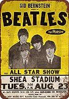 SUDISSKM ブリキ看板1965ビートルズシアスタジアムでビンテージルックメイドUSAコレクティブルウォールアート