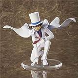 SDFDSSR Anime Doll Detective Conan Kaito Kid Vestido Blanco Arrodillado Figura Figura Versión Estatua Muñeca Escultura Juguete Decoración Modelo Muñeca Altura 13cm
