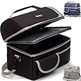 10L!10L!10L!2 Compartment Lunch Box,2 Deck/Dual Compartment/2 Compartments/Double Deck Insulated Lunch Bag Box,Lunch Box for Men/Women,Lunch Bag for Women/Men,Reusable Bag,Beach Cooler Bag