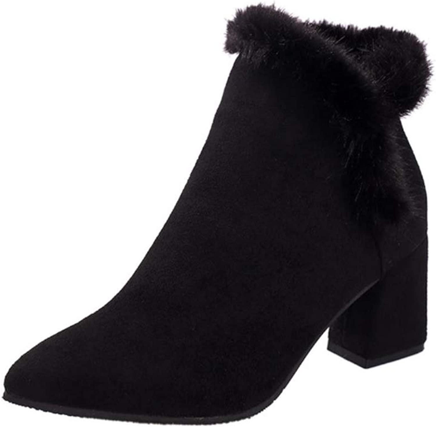 Women's Winter Snow Boots Warm Fur Lining Ankle Bootie Outdoor Anti-Slip Boots shoes Size