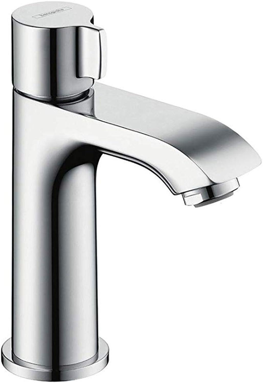 Hansgrohe Metris 100 pillar tap without waste, chrome