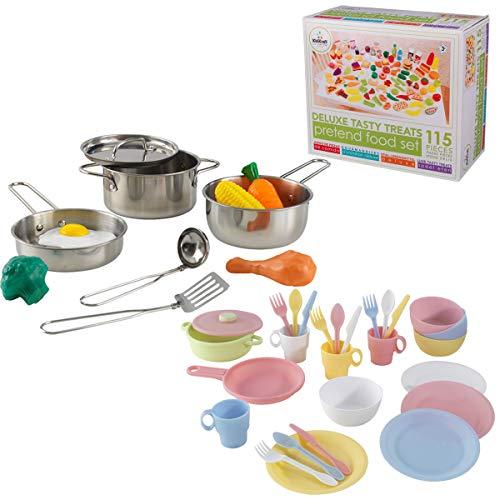 KidKraft Geschirr- und Lebensmittel Set für Kinderküche und Kaufladen