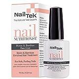 Nail Tek Nail Nutritionist, Bamboo & Biotin 5 in 1 Nail Treatment for Soft and Peeling Nails, 0.5 oz, 1-Pack