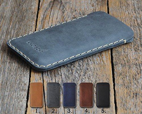 Microsoft Lumia 650 Dual SIM 550 950 XL 430 640 LTE 532 540 435 535 Leder Etui Hülle Tasche Cover Case personalisiert durch Prägung mit ihrem Namen