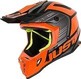Just 1 Helmets Just1 J38 - Casco para moto (talla XL), color azul y blanco XS Orange-Black