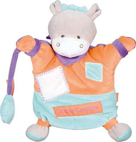 Doudou et Compagnie zigzag marioneta burro Orange