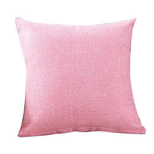 Janly Clearance Sale Funda de almohada simple a la moda, funda de cojín para sofá o café, decoración del hogar, funda de almohada para el día de Pascua (rosa)