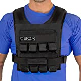 Box 40 Lb Weighted Vest - Made in USA - Crossfit and Gym Weight Loss Fitness Training (Black)