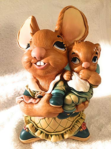 Large Pendelfin Mother and Baby stonecraft rabbit – large mother rabbit holding her baby – PDF11