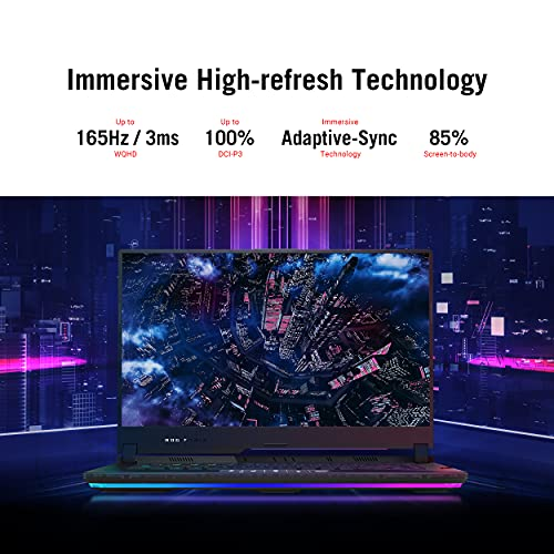 "ASUS ROG Strix Scar 15 (2021) Gaming Laptop, 15.6"" 165Hz IPS QHD, NVIDIA GeForce RTX 3080, AMD Ryzen 9 5900HX, 32GB DDR4, 1TB SSD, Opti-Mechanical Per-Key RGB Keyboard, Windows 10 Pro, G533QS-XS98Q"