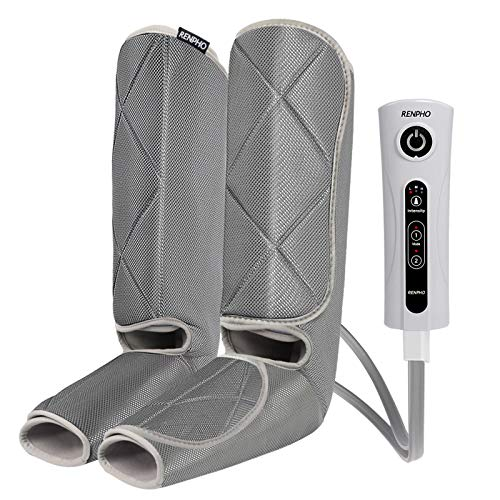 RENPHO Leg Massager for Relaxation, Compression Massage for Foot and Calf , with 3 Intensity 2 Modes, Useful for Circulation and Leg Muscle Fatigue Relief, Mothers Day Gifts