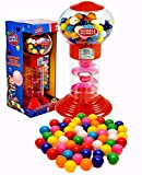 PlayO 10.5' Coin Operated Spiral Gumball Machine Toy Bank - Dubble Bubble Spiral Style Includes Aprox 40 Gum Balls -...