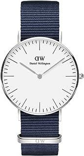 Daniel Wellington DW00100280 Fabric-Band White-Dial Round Analog Unisex Watch - Navy