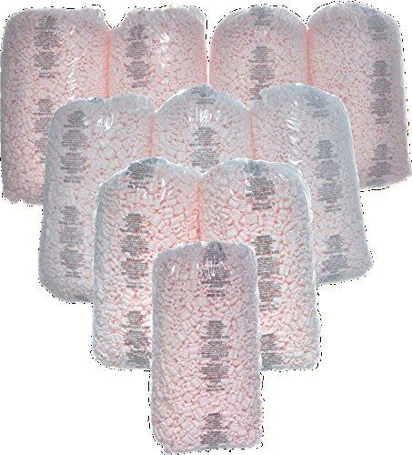 Bubblefast Brand 35 cu. ft. Pink Anti Static Packing Peanuts Popcorn (3.5 cu. ft x 10 Bags)