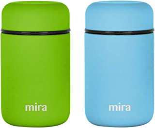 MIRA Lunch, Food Jar 2 Pack - Vacuum Insulated Stainless...