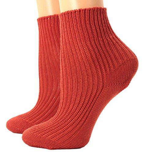 Shimasocks Baby Kinder Damen Herren Socken Rippstruktur Söckchen Wolle, Größe:43/44, Farben alle:orange