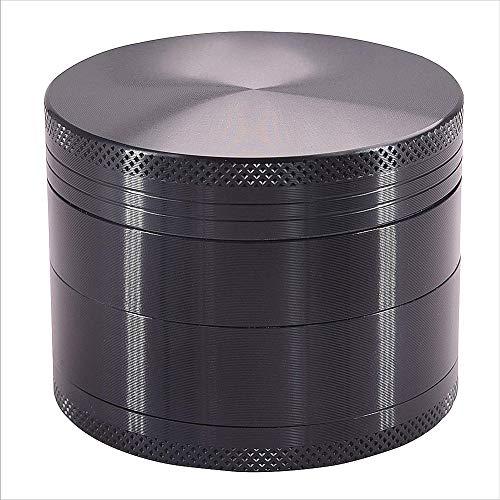 Sinzau Durchmesser 1,6 x 1,4 Zoll, Kräutermühle, mit Sichter und Magnetverschluss, für trockene Gewürze, Kräuter und Tabak, grau (Mehrweg)