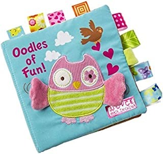 Owl  Story Cloth Books, Baby's First Non-Toxic Fabric Soft Cloth Book Set Crinkle,Colorful,Squeak,Rattle Rustling Sound Ac...