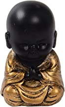 Flameer Mini Monk Figurine Buddha Statue India Yoga Mandala Tea Ceremony Ornaments - A, 3.5x3.3x5.1cm
