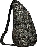 AmeriBag Small Healthy Back Bag Tote Prints and Patterns (Black Fleur)