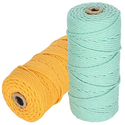 Bediffer Cuerda de algodón, resistente al desgaste, 100 metros, para decoración del hogar,...