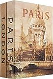 Barska Paris and London Dual Book Lockbox with Key Lock, Multi