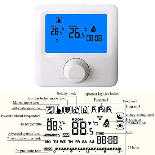 Gas Boiler Thermostat With Best Design, Lcd Display Wall Hung Gas Boiler Thermostat Weekly Programmable Room - Digital Boiler Thermostat, Thermostat Boiler, Gas Wall Boiler, Gas Heat Thermostat