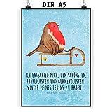 Mr. & Mrs. Panda Wanddeko, Wandposter, Poster DIN A5