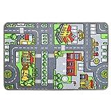 PLAY4FUN - Alfombra de juego - Circuito de coche en ciudad - 100 x 67 cm