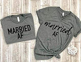 married af tees couple shirts matching couple tees just married t-shirts bridal shower gift idea wedding gift bride tee groom tee honeymoon shirts