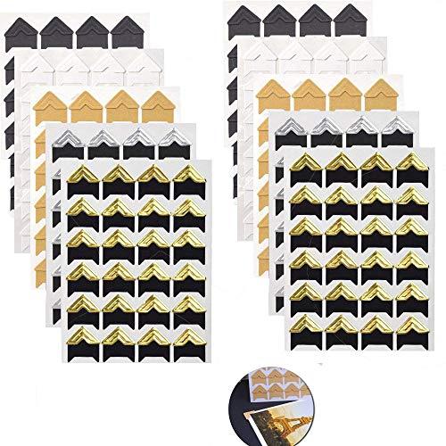 Wohlstand 10 Blatt 240 Stück Fotoecken Selbstklebend,Farben Fotoecken Foto Ecken,DIY Album Corner Aufkleber,für DIY Scrapbooking, Foto-Album,Tagebuch Dekoration