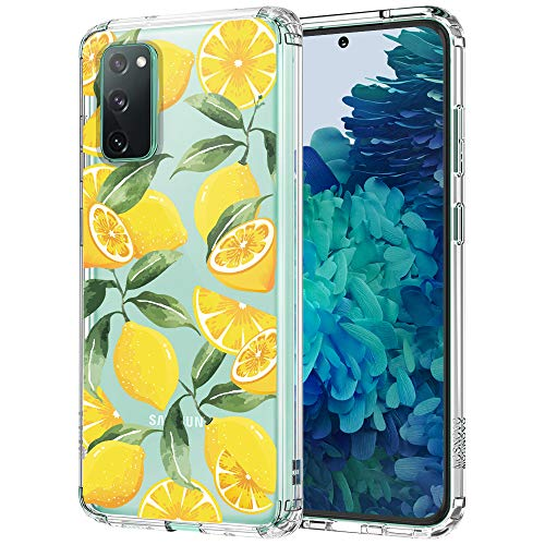 Case for Galaxy S20 FE,MOSNOVO Shockproof TPU Bumper Slim Clear Case with Cute Design for Samsung Galaxy S20 FE 5G Phone Case Cover - Lemon