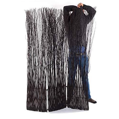 DESIGN DELIGHTS Weiden RAUMTEILER Nature 2 | 170x120 cm (HxB), Weidenholz, 3-teilig, braun | Äste Paravent, Wohnzimmer Raumtrenner, Holz Trennwand, Raum Sichtschutz