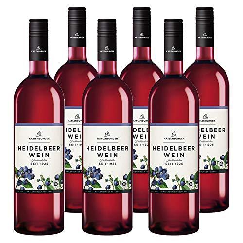 Katlenburger Fruchtwein Heidelbeere 6x 0,75l, reiner Heidelbeerwein, Beerenwein, lieblicher Obstwein mit ausgeprägtem Heidelbeergeschmack, 8,5% vol.