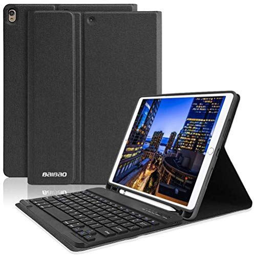 iPad 10.5 Keyboard Case with Pencil Holder for iPad Air...