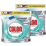 Colon Nenuco Detergente para la lavadora, adecuado para ropa blanca y de color, formato cápsulas, Pack de 2, Total 64 dosis