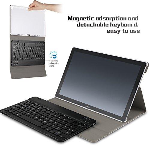 IVSO Tastatur Hülle für Huawei MediaPad M5 10.8, [Deutsches QWERTZ-Layout] Keyboard Case für Huawei MediaPad M5 10.8 Pro / M5 10.8 Zoll 2018 Modell,Rosegold - 3