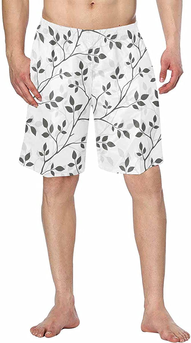 InterestPrint Men's Comfortable Bathing Suits with Fabric Drawcord Lining Visual Game for Children Task