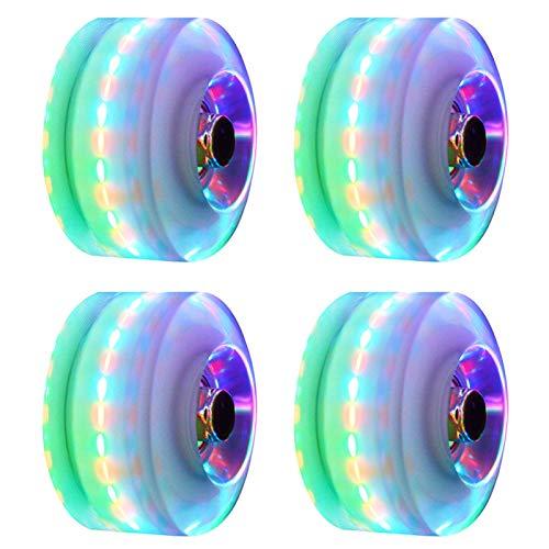 HilMe Skateboard-Räder, 4 Stück/Set mit LED-Leuchten, Resilience Luminous Rollerskate-Schuhe,...